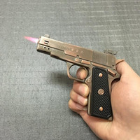 Wholesale Fans Products - PKK All Metal Pistol Double Fire Lighter Oversized Simulation Gun Of Creative 64 Gun Army Fan Products
