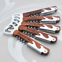 ingrosso coltelli personalizzati-Apribottiglie personalizzate Incisione personalizzata Cavatappi, Custom Groomsman Gift Best Man Regalo Casa Warming Corkscrew Knife