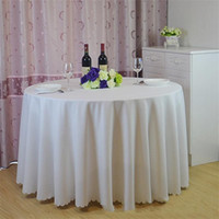 ingrosso tessuto di lino di qualità-Addensare rotondo senza soluzione di continuità tavolo in lino multi colori tavoli da tè panno poliestere tessuto tinta unita tovaglia da pranzo di alta qualità 51lj BB