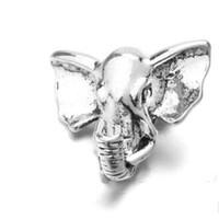 ingrosso gioielli in elefante per la vendita-Vendita calda nuovo stile 20pcs / lot DIY retro impressionante 18mm noosa pulsante a scatto con bottone a pressione elefante gioielli snap charm accessori gioielli misura braccialetto
