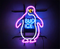 ingrosso segni di neon barra di luce bud-New Star Neon Sign Factory 17X14 pollici Real Glass Glass Sign Light per Beer Bar Pub Garage Room Bud Ice.