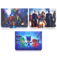 Wholesale Universal Kids Tablet Case - Universal 7 Inch Kid Cute Color Printing PJ Masks and Avengers Filp Stand Leather Universal Case Cover For Universal 10.1 inch Tablet Pc