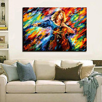 Wholesale new modern oil painting resale online - New Modern classical Art Oil Painting Wall art Decoration knife paintings crazy for music canvas art