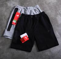 kurze haremhose großhandel-Klassische Marke Top-Qualität dreidimensionalen Druck hohe Stretch-Baumwolle Shorts nahtlose Reißverschluss Herren Jogginghose casual Hosen