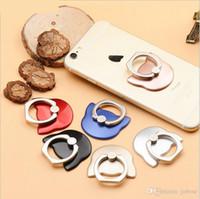 korea bonito telefone venda por atacado-Hot new cat anel de telefone móvel Coréia bonito gato cabeça criativo anel preguiçoso fivela personalização presente