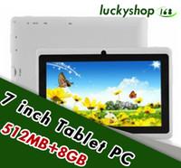 10 inch tablet großhandel-10 X 7 Zoll Kapazitive Allwinner A33 Quad Core Android 4.4 Dual-Kamera Tablet PC 8 GB RAM 512 MB ROM WiFi EPAD Youtube Facebook Google DHL