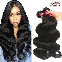 Wholesale Wholesale For Brazilian Human Hair - Brazilian virgin Hair Body Wave 8a Unprocessed virgin Human hair Weave Brazilian Body Wave 3 bundles For Black Woman Wholesale