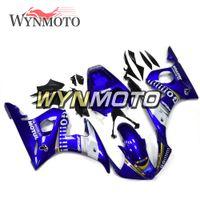 kit de corpo yamaha r6 branco venda por atacado-Corpo da motocicleta Kit Azul Branco ABS Injeção Carroçaria Para Yamaha YZF-600 R6 Ano 2003 - 2004 Completo Carenagem Kit Corpo Kit Cowling