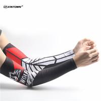 mangas de braço feminino venda por atacado-Personalidade dos homens Impressão C Arm Warmers Mangueiras de Manguito de Proteção UV Feminino Esportes Ao Ar Livre Livrar o Braço Mangas Aquecedores de Perna