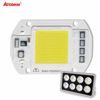 Wholesale Led Lighting Matrix - LED Matrix 20W 30W 50W 110V 220V Diode Array High Power Smart IC Chip Light For Searchlight matrix Outdoor Spotlight Floodlight