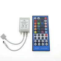 control remoto 44keys ir al por mayor-Controlador LED RGBW RGB DC12V 40Key Controlador remoto IR 44keys para RGBW o RGBWW LED Strip Lights.