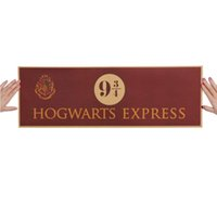 Wholesale Vintage Plant Poster - 9 3 4 (nine and three quarters) Platform Harry Potter Movie Vintage Paper Decoration Poster Wall Stickers 72x24cm Free Shipping