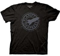 ingrosso camicia espresso xl-Maglietta t-shirt Futurama Faded Planet Express nera T-shirt Uomo T-shirt manica lunga personalizzata Cool uomo San Valentino Taglie forti