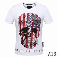 Wholesale Pop Metal - 2018 Heavy Metal Back Side Skull Print Korea Pop Up Oversize Short Sleeve Letter skull print Men Cotton T-shirt
