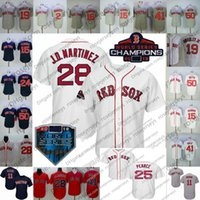 Wholesale steve baseball for sale - Boston WS Champions Jerseys Mookie Betts Chris Sale J D Martinez JD Benintendi Steve Pearce Ortiz S XL