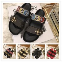 Wholesale casual gladiator sandals - spring summer sandals women fashion designer shoes men genuine leather with box dust bag Free Shipping