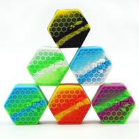 ingrosso vasi di silicone-10 pezzi / lotto 26 ml a nido d'ape vasetti di silicone contenitore in silicone slick contianer per vasetti di cera di silicone dab olio contenitore di cera