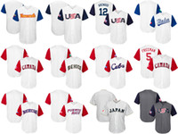 Wholesale Canada Purple - Mens Womens Kids-USA CANADA JAPAN ITALY MEXICO Puerto Rico Baseball 2017 World Baseball Classic Custom Personalized any name Jerseys
