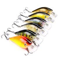 Wholesale hard fishing lures online - 3D Vivid Color Lures Baits Colorful Fat Pesca With Steel Beads Inside Simple Operation Tackle For Fishing Accessories sb ZZ