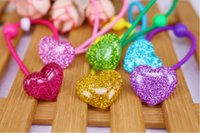 pferdeschwanz mischen farben groihandel-New LIEBES-HERZ Kinder elastische Haar-Bänder 7 Farben Mix-Haar-Zusätze für Mädchen Pferdeschwanz-Halter