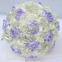bouquets de mariage personnalisés achat en gros de-Bouquets de mariée sur mesure haut de gamme broches bricolage coréennes