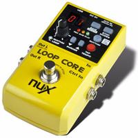 Wholesale nux pedals - NUX Loop Core Guitar Effect Pedal Guitar Looper Pedal 6 Hours Recording time 99 User Memories Built-in Drum Patterns