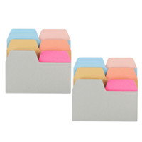 Wholesale paper sticky resale online - 180 Sheets Index Tabs Paper Assorted Sizes Colors Index Divider Sticky Notes