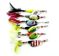 ingrosso kit esche-LENPABY 6 pz spinnerbaits kit spinnerbaits metallo duro trota esche da pesca bass wobbler attrezzatura da pesca