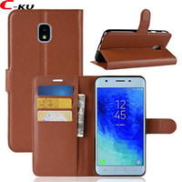 flip cover samsung j3 2021 - Litchi Wallet Leather Case For Samsung Galaxy A11 A41 A60 J7 J3 2018 LG Q7 NOKIA X6 1 PLUS Flip Leechee Stand ID Card Money Cover