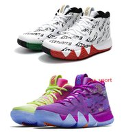 Wholesale Newest Low Cut Basketball Shoes - 2018 newest Kyrie Irving shoe EP Couleur Multiple Confetti Multicolor Basketball Shoes BHM EQUALITY Irving 4 4s Sports Sneakers