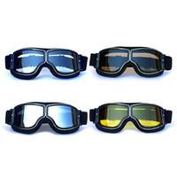 Óculos De Proteção Da Motocicleta Óculos Capacete Do Vintage Óculos de  Motocross Retro Clássico Piloto Cruiser Steampunk ATV Bicicleta Proteção UV d35d0dd09c