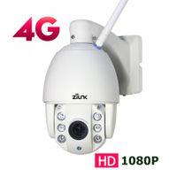 caméra carte sans fil wifi sans fil de 3g achat en gros de-ZILNK 3G 4G Carte SIM Extérieure PTZ Dôme IP Caméra 1080P 2.7-13.5mm Auto Zoom Nuit Vision 60m CCTV Sécurité Sans Fil WIFI Caméra