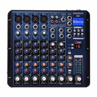 Wholesale Mixer Channel - Freeboss SMR8 Bluetooth Record 8 Channels (4 Mono + 2 Stereo) 16 DSP USB DJ Mixer
