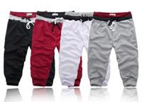 shorts capris para homens venda por atacado-Mais novo 2018 dos homens de verão calções casuais soltos shorts homens calças tamanho s-xxl calças curtas para homens masculharem 4 cores mp076