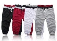 capris shorts für männer großhandel-Neueste 2018 Sommer Männer Casual Shorts Lose Shorts Männer Hosen Größe S-XXL Kurze Hosen für Männer Masculharem 4 Farben Mp076