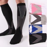 Wholesale compressed socks resale online - Compression Nylon Stockings Man Graduation Compressed Sock Running Flight Travel Care Enhance Stamina Speed Up Recovery Wear Socks