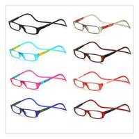ingrosso occhiali da lettura appesi-Occhiali da lettura magnetici unisex Occhiali per la cura della vista Uomo Donna Occhiali da sole colorati regolabili con montatura frontale regolabile