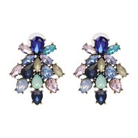 Wholesale Good Crystal Chandelier - New 2018 good quality Trend fashion earring for women hot sale women crystal vintage statement Earrings