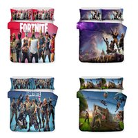 Wholesale bedding set 3d print online - Hot Sale Art Design Printed Kids Bedding Set Fortnite Game Theme Bedding Sets Duvet Cover