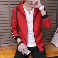 coreano moda masculina jaqueta venda por atacado-Moda Mens jaqueta primavera e outono tendência de roupas versão coreana do auto-cultivo estudantes bonito selvagem mens jacket 8324