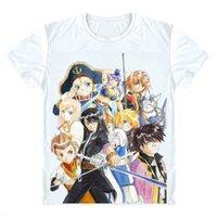 geschichten spiele großhandel-Geschichten von Vesperia T-Shirts Multi-Stil Kurzarm Shirts Japanische Videospiel Teiruzu Obu Vesuperia Raven Judith Cosplay Shirt