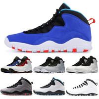 superior quality 15cdf 6ac5f Nike Retro Air Jordan 10 AJ10 Tinker 10 10s Mens Basketball-Schuhe  Westbrook Cement Ich bin zurück Chicago stahlgrauer Infrarot-Trainer