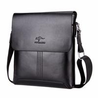 känguru handtaschen großhandel-Kangaroo Hot Sell Solide Weichem Leder Männer Umhängetasche Marke mode umhängetasche Herren crossbody Mens Handtaschen
