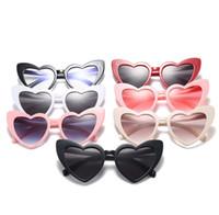 Wholesale plastic party sunglasses - Love Heart Sunglasses colorful Cat Eye Sunglasses Heart Shape Anti UV Outdoor Party Sun Glasses Summer Girls Sunglasses LJJG8