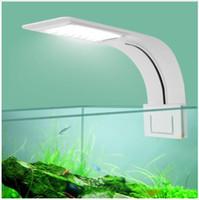 luz de coral regulable al por mayor-Super Slim LED Aquarium Light plantas de iluminación Grow Light 5W / 10W / 15W Planta acuática Iluminación impermeable Clip-on lámpara para Fish TankSuper Slim L