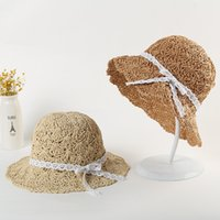 Wholesale princess hats for sale - Group buy Mother Daughter Family Match Hats Kids summer thin air shading cap girl princess fresh sunscreen beach hat