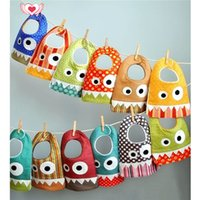 Wholesale Small Bibs - INS explosion small monster mouth saliva towel baby cotton scarf bib pocket baby child child mouth 14 style.free shipping