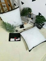 Wholesale bow cushions - Fashion brand house pillow luxury bolster designer soft comfortable back cushion classic beauty bedding accessories boutique VIP gift