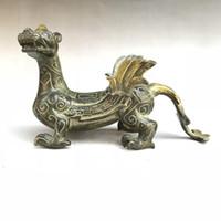 скульптуры из латуни животных оптовых-Статуя Античной Китайской Латунной Скульптуры Руки Статуи Классическая Животная