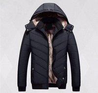 kürklü kaput bombardımanı ceketi toptan satış-2018 Erkek Kış Sıcak Coat Kaz Chilliwack Bombacı Kaz tüyü Ceket Erkekler için Erkekler Bombacı Parka Kürk Siyah Erkekler için Etiket İnce kapşonlu pamuk ceket